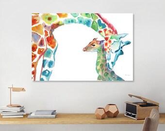Giraffe Print Giraffes wall art Nursery Wall Art Nursery Print Father's Day Gift Nursery Decor Baby Shower Gift Gift for Best Friend Baby