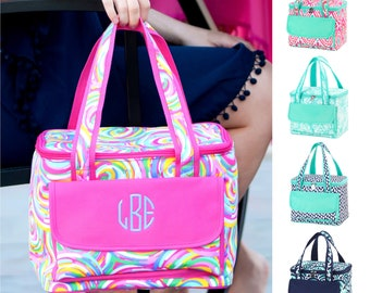 Monogram Womens Lunch Bag, Lunch Bags for Women, Insulated Lunch Bag, Adult Lunch Bag, Lunch Box for Women, Reusable Snack Bag Insulated Bag