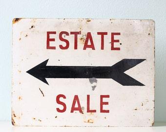 Vintage Estate Sale Sign
