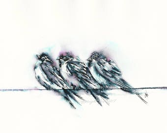 Greeting cards - Three little birds