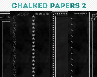 chalked chalkboard digital background papers 2 - digital scrapbooking - automatic download