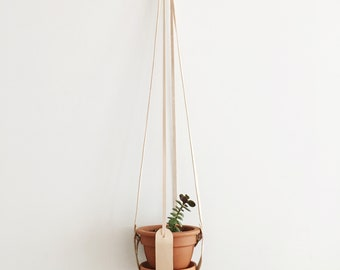 Leather Plant Hanger Harness, Natural