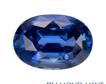 8.7 Carat Blue Sapphire, Oval cut Sapphire, Loose Sapphire Gemstone, Blue Gemstone, Non Heated Real Sapphire