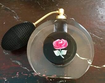 Scent,Perfume atomizer,,circa 1950s in Lucite with pump atomizer
