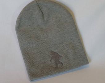 Gray Youth Knit Bigfoot Beanie