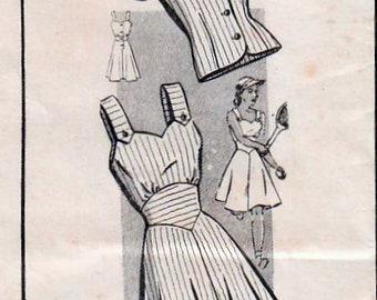 1940s Mail Order 8445 FF Vintage Sewing Pattern Misses Sundress, Midriff Dress, Jacket Size 20 Bust 38