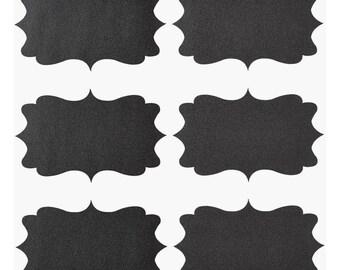 Panel films-Sticker, black, rectangular. 3 arches