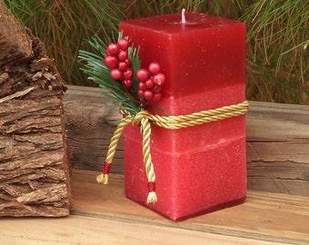 Holiday Season, christmas gifts, christmas decorations, Christmas Candles , rustic candles, Christmas, Home & Living