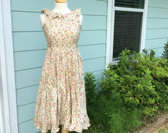Floral Sleeveless Vintage Praire Dress Women's