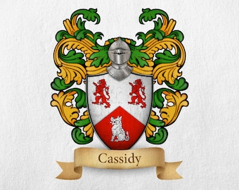 Cassidy Family Crest - Print