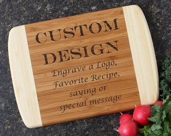 Personalized Cutting Board, Custom Engraved Cutting Board, Bamboo Cutting Boards, Personalized Wedding Gift, Housewarming Gift-10 x 7 D13