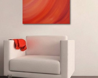 Awww Orange-Size: 20x20 Canvas 1.5 inch Gallery Wrapped Canvas Oil Price Mox of Oranges, reds and yellows