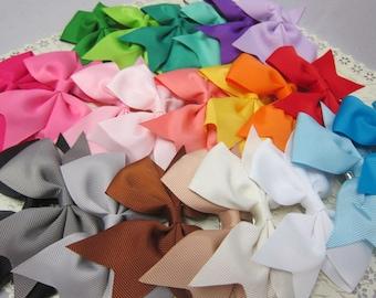 Elegant 4 inch Grosgrain Ribbon Tailed Bow Hair clip multi colors