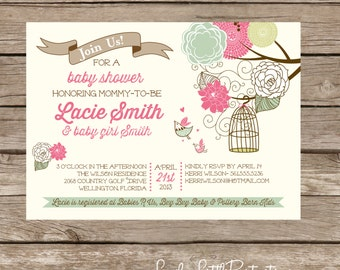 Items similar to Printable 2 Piece Lemonade Themed Baby Shower