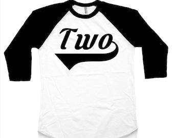 Two Birthday shirt. Two Birthday Raglan. Fun Birthday shirt. Birthday Boy. Birthday Shirt. Baby Birthday.  Toddler Birthday. Second Birthday
