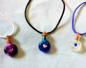 Jeweled Potion Bottle Necklace