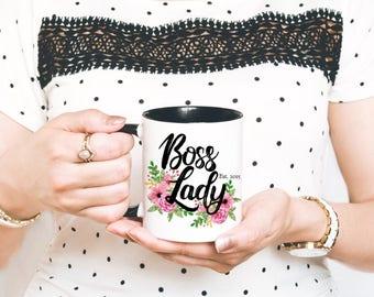Boss Lady Mug - Boss Lady Coffee Mug - Feminist Mug - Boss Girl Mug - Gift for Manager - Gift for Boss - Female Empowerment - Gift for Her