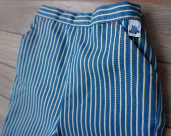1970s Garanimal Blue and Yellow Striped Pants - 18 months