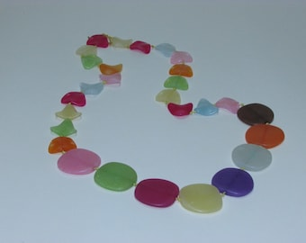 Handmade Necklace, Plastic Necklace, Colourful Necklace