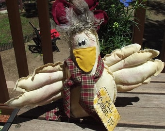 Primitive Country Farm Rustic rooster chicken