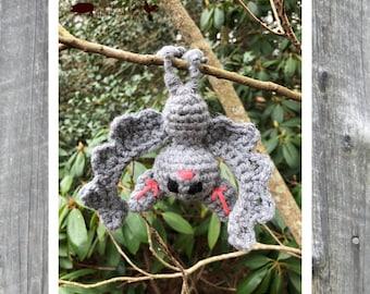 Mini bat, baby bat, stuffed toy, bendable, crochet, amigurumi, crochet bat, stuffed bat, plush bat, decor