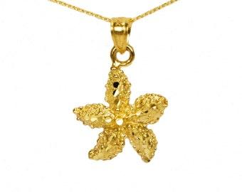14k Yellow Gold Starfish Necklace