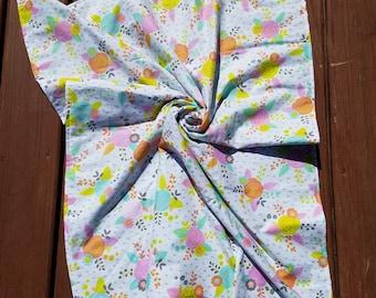 Plush Blanket \\ Lap Quilt \\ Baby Blanket \\ Nursery Crib Quilt Bedding \\ Nursery Decor \\ Crib Quilt \\ Girly Teal Floral