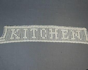 Vintage Crochet KITCHEN Trim for Apron, Linens, handmade Novelty Lace 1930s 1940s