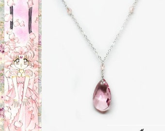 Sailor Chibi Moon Ball Gown Inspired Necklace - Swarovski Crystal