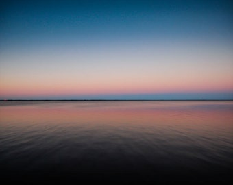 Gradient Pink & Blue Florida Sunset Fine Art Print - Travel, Scenic, Landscape, Nature, Home Decor, Zen