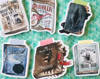 Wizard Books Magnetic Bookmark Set
