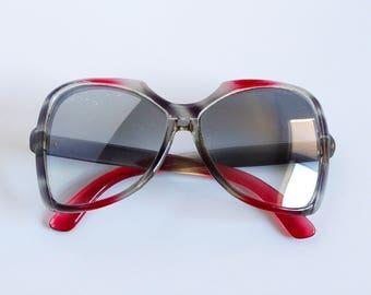 Vintage Oversized Japanese Sunglasses - Retro 70s Frames