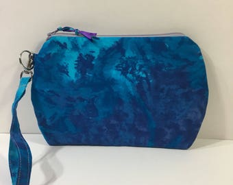 Blue and Purple ~ Kendall Wristlet Free Shipping in the US