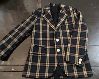 Vintage Boys Plaid Blazer
