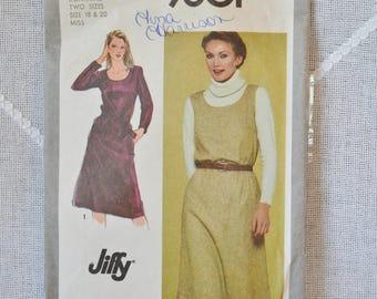 Vintage Simplicity 9601 Sewing Pattern Misses Dress Jumper Size 18 20 Crafts  DIY Sewing Crafts PanchosPorch