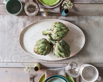 Made-to-Order Earthenware Oval Platter