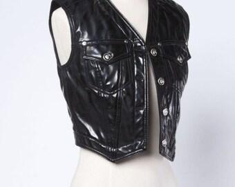 Versace Couture vintage Vest leather rare!
