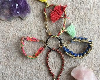 Multi pack cotton bracelets