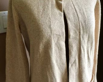 Vintage 1950s Bloomingdales Cashmere Cardigan Sweater Italy Sz M