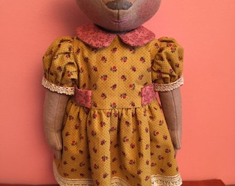 Unique  Gift.  Artist doll. Artist bear. Handmade doll. Collectioner's doll bear.