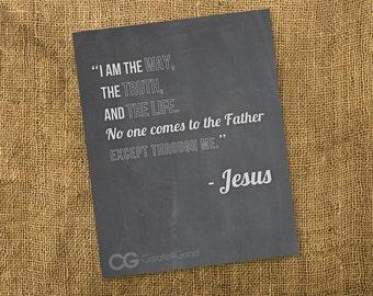 John 14:6 // DIGITIAL DOWNLOAD // Chalkboard Art
