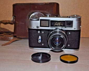 FED 4 35mm Rangefinder Film Camera with Industar-61 Lens and case 6821720
