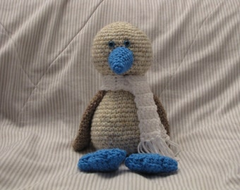 Amigurumi Soar the Blue-Footed Booby Bird Crochet Pattern