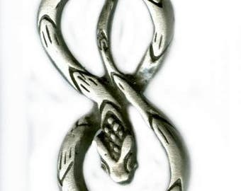 Snake talisman pendant