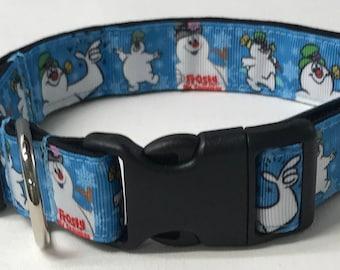 dog collar, frosty the snowman, frosty, snowman dog collar, snowman collar, Christmas dog collar, Christmas collar, frosty dog collar