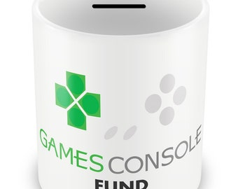 Games Console Fund Money Box - Piggy Bank Boy Gift Birthday Christmas