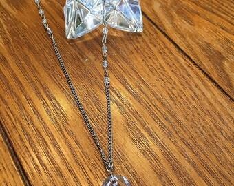 Crystal Clear Swarovski Buddha Necklace