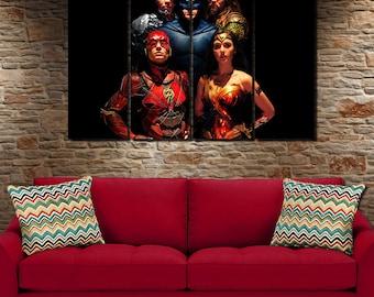 Justice league art | Etsy