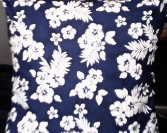 Tropical Hibiscus cushion