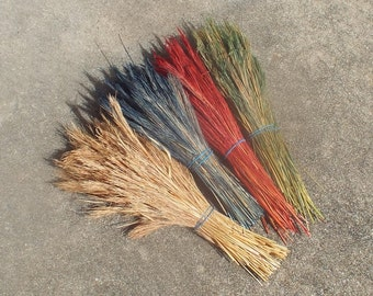 Rustic Grass Accent for Pine Needle Basket Bundle or Fringe Natural Material Color Choice Coiled Basketry Supply Bushy Bluestem Grass Plumes